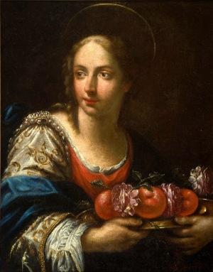 Santa Dorotia (St. Dorothy) by Girolamo Donnini